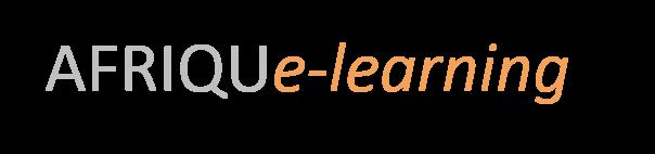 Logotipo de AFRIQUe-learning: cours de formation à distance sur le net